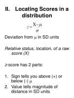 ii locating scores in a distribution