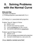 ii solving problems with the normal curve