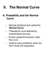 ii the normal curve
