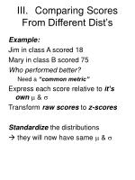 iii comparing scores from different dist s