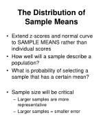 the distribution of sample means33