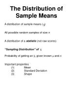the distribution of sample means36