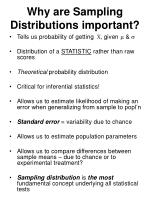 why are sampling distributions important