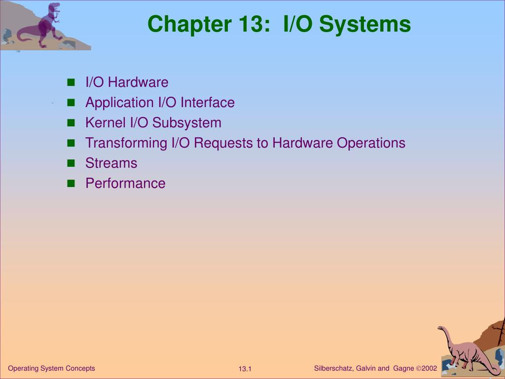 chapter 13 i o systems l.