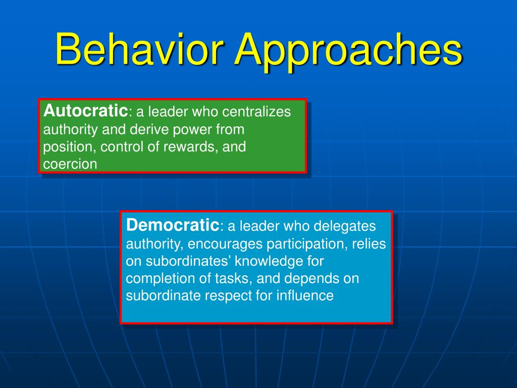 Behavior Approaches