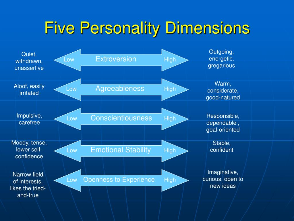 Five Personality Dimensions