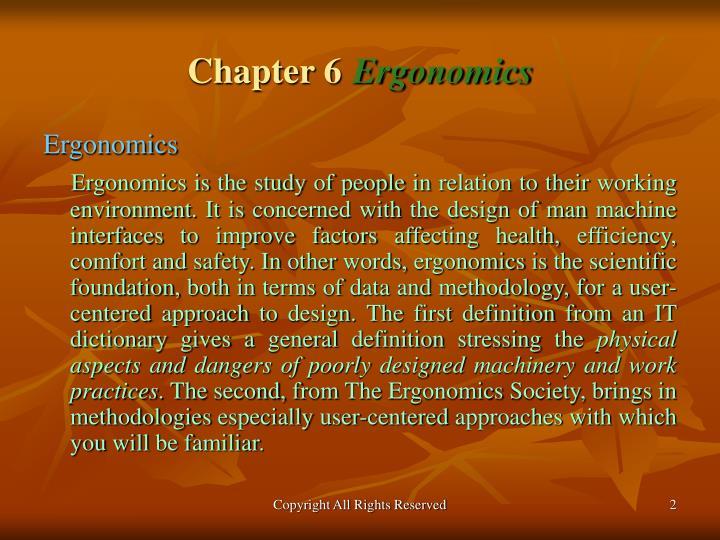 Chapter 6 ergonomics2