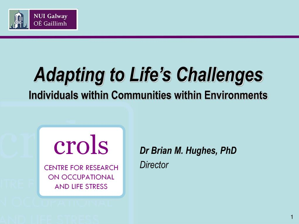 adapting to life s challenges individuals within communities within environments l.