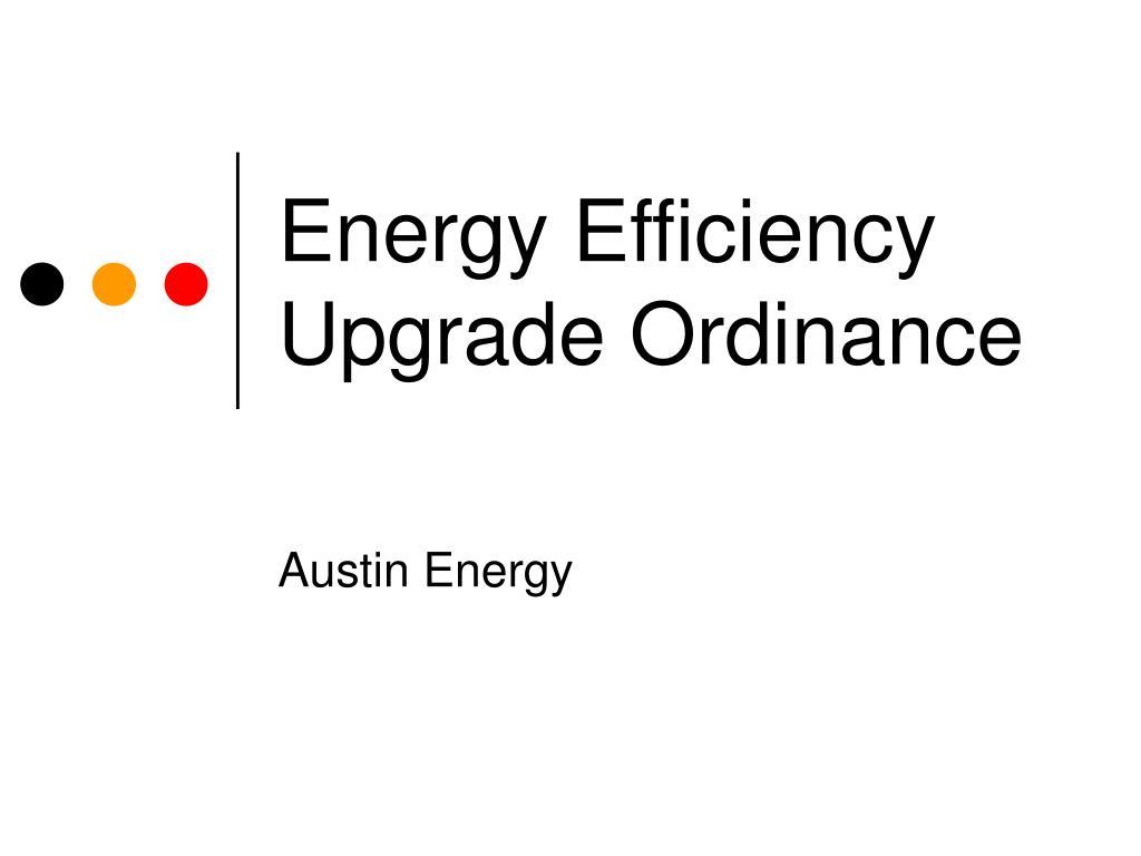 energy efficiency upgrade ordinance l.