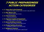 7 public preparedness action categories