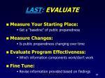 last evaluate