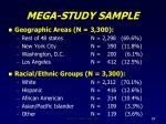 mega study sample