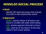 modeled social process