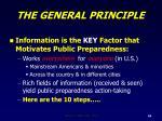 the general principle