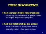 these discoveries