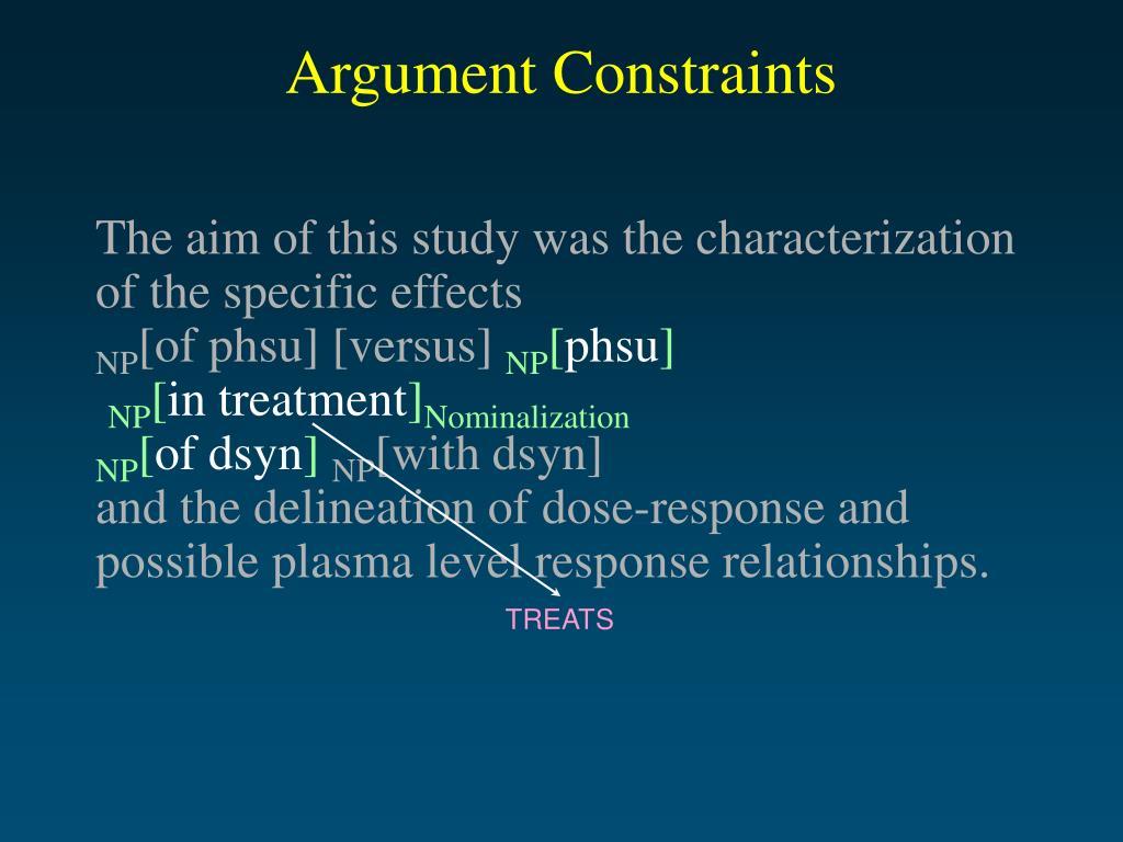 Argument Constraints