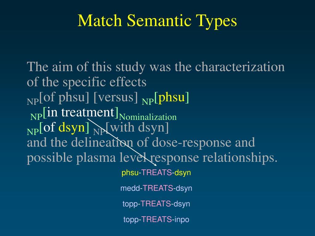 Match Semantic Types