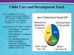 child care and development fund