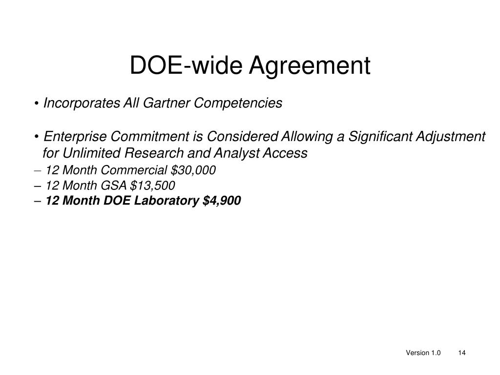 DOE-wide Agreement
