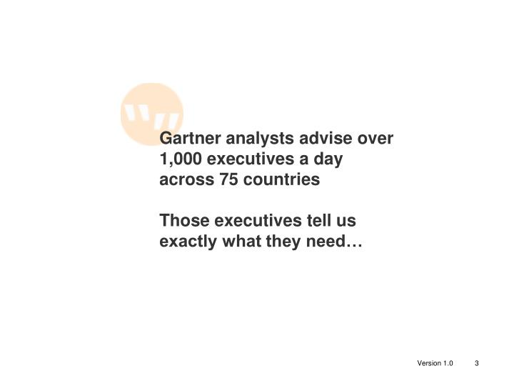 Gartner analysts advise over