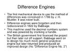 difference engines