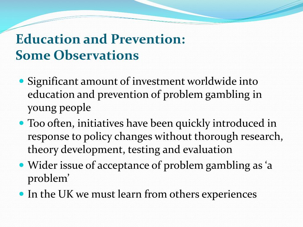 Education and Prevention: