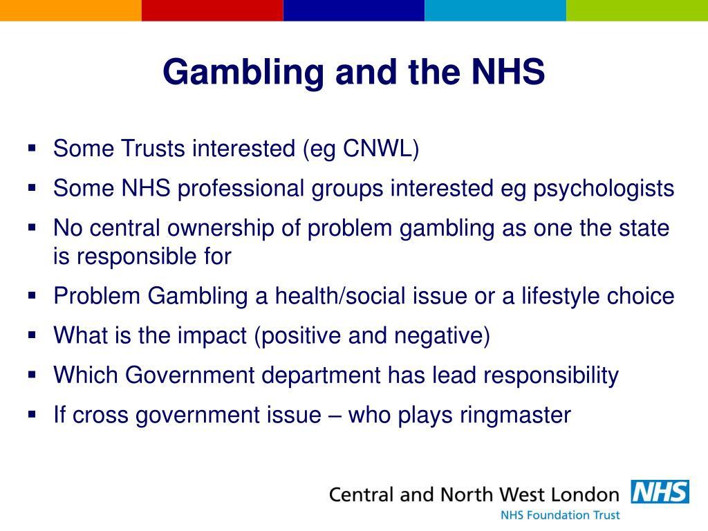 Gambling and the NHS