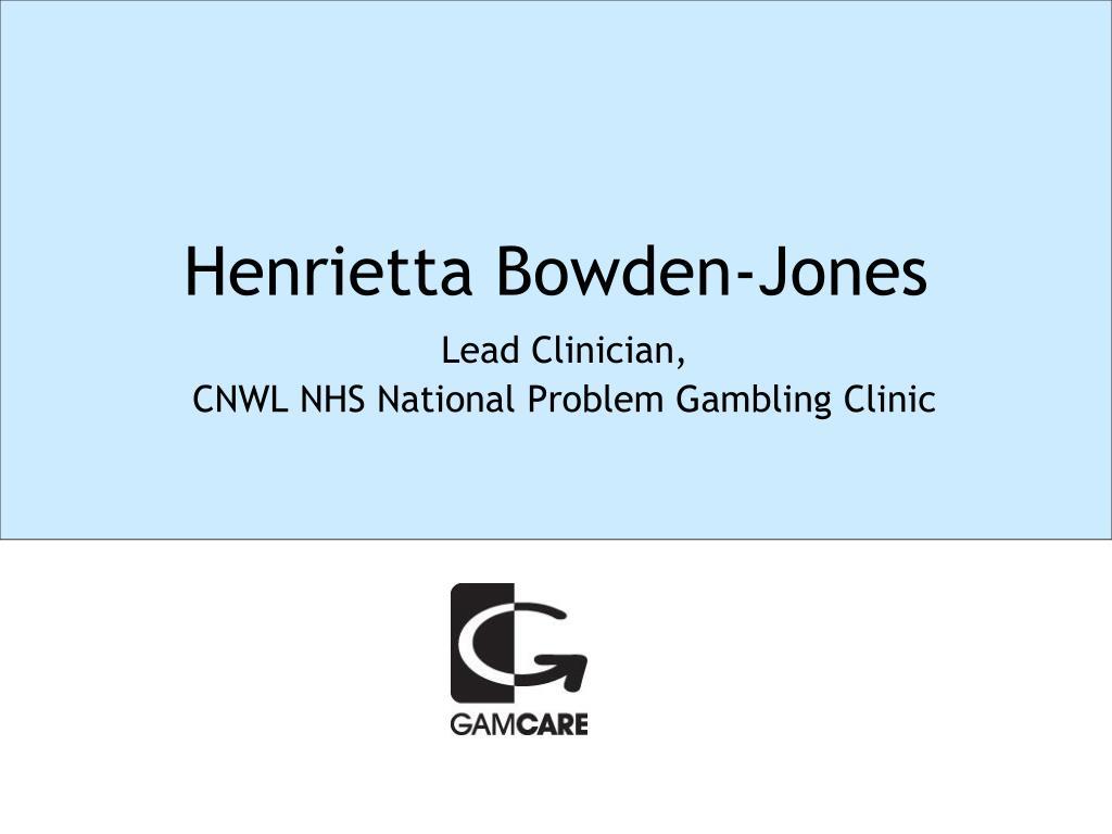 Henrietta Bowden-Jones