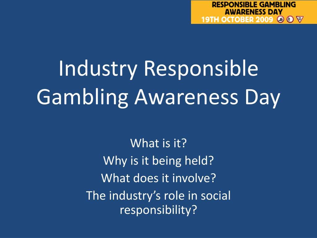 Industry Responsible Gambling Awareness Day