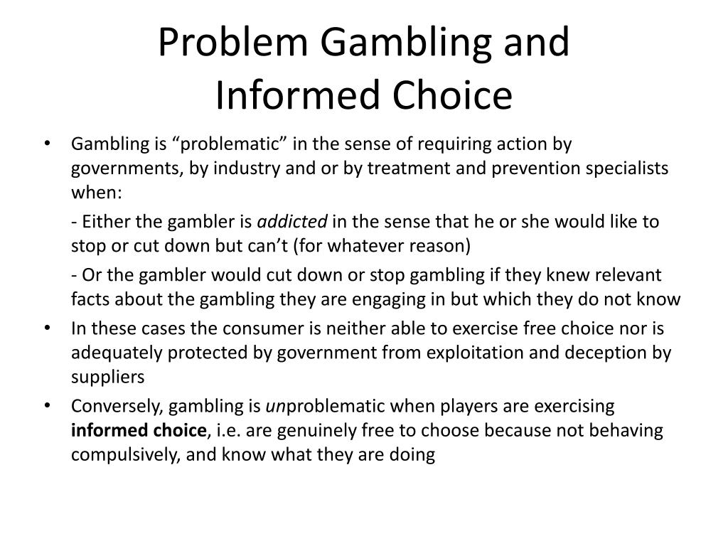 Problem Gambling and