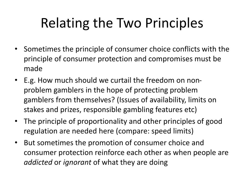 Relating the Two Principles