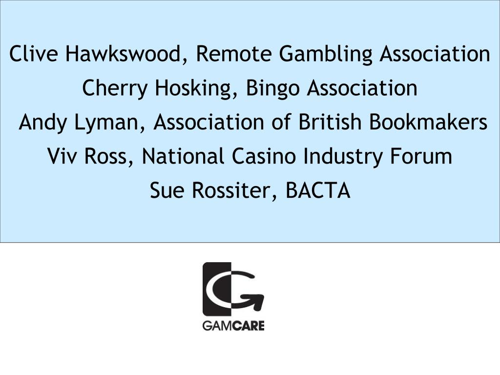 Clive Hawkswood, Remote Gambling Association