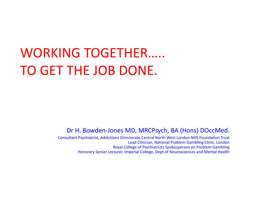 WORKING TOGETHER…..