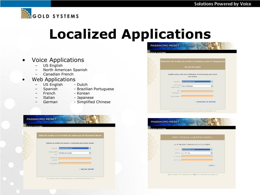Localized Applications