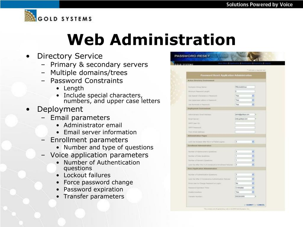Web Administration