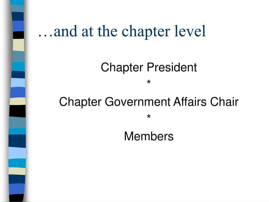 …and at the chapter level