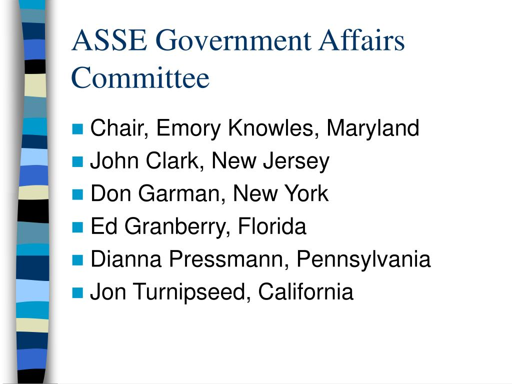 ASSE Government Affairs Committee