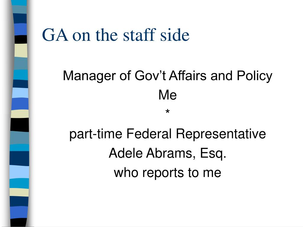 GA on the staff side