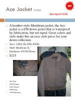 ace jacket 7205 start ship 9 15 08