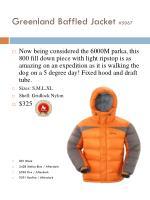 greenland baffled jacket 5067