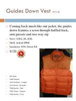 guides down vest 7218