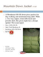 mountain down jacket 7209