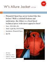 w s allure jacket 7720