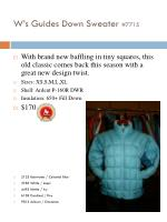 w s guides down sweater 7715