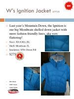 w s ignition jacket 7725