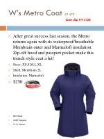 w s metro coat 1475 start ship 9 15 08
