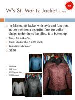 w s st moritz jacket 7705