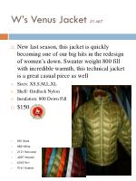 w s venus jacket 1467