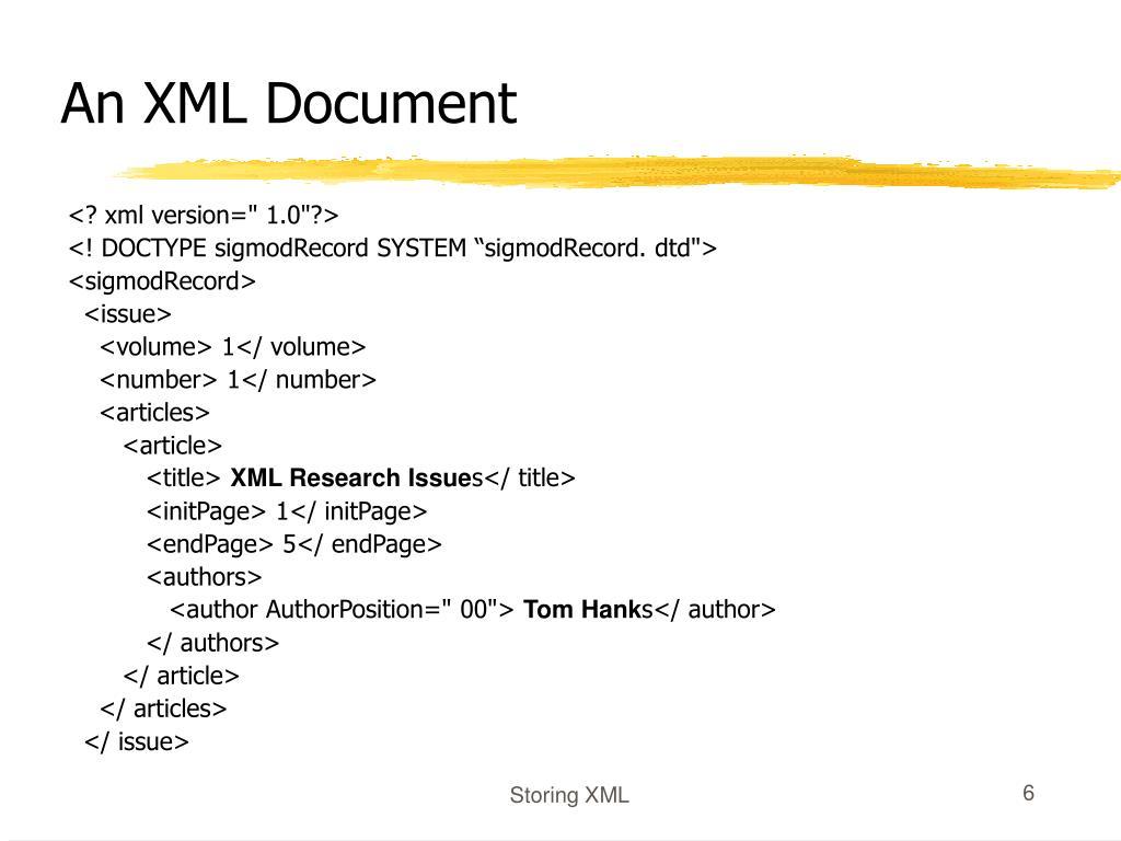 An XML Document