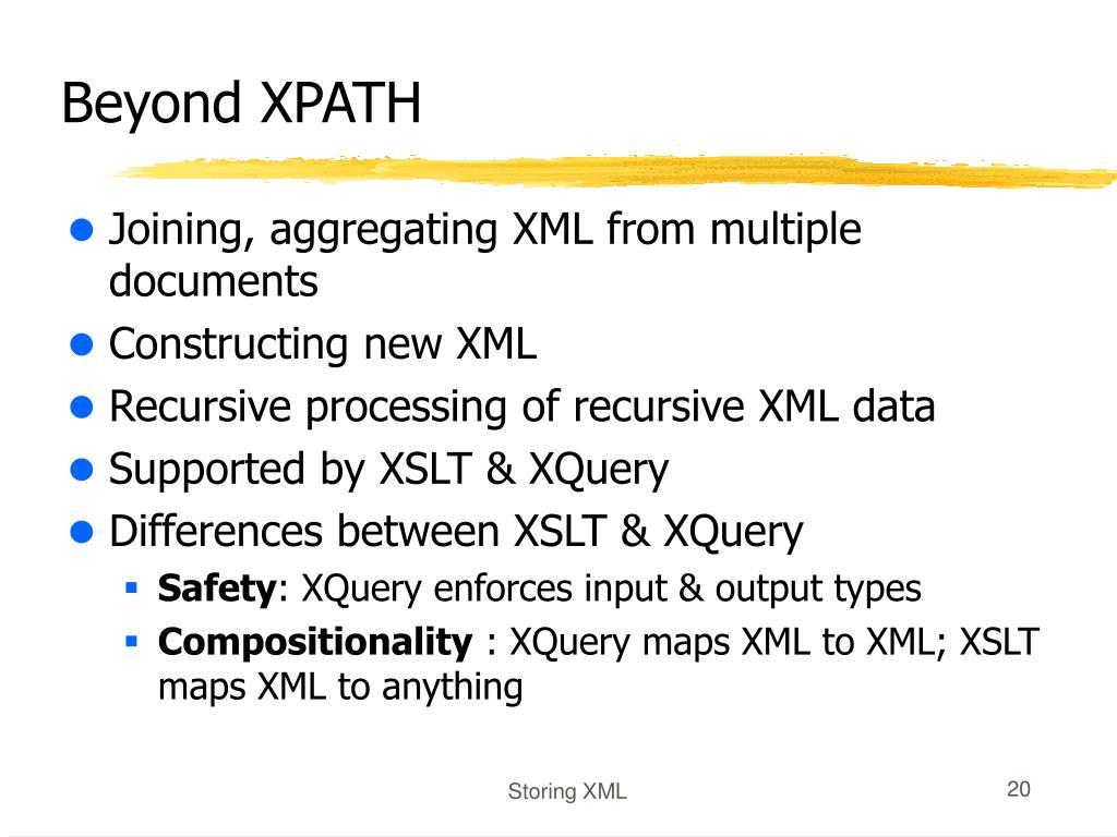 Beyond XPATH
